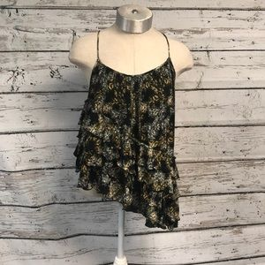 Free People Flutter By Tired Ruffle Tank